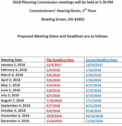 Revised 2018 Meetings